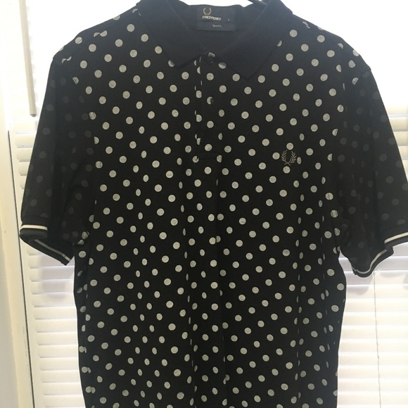 103a214d1 Fred Perry Other - Fred Perry Men s Polka Dot Black Slim Fit Polo L